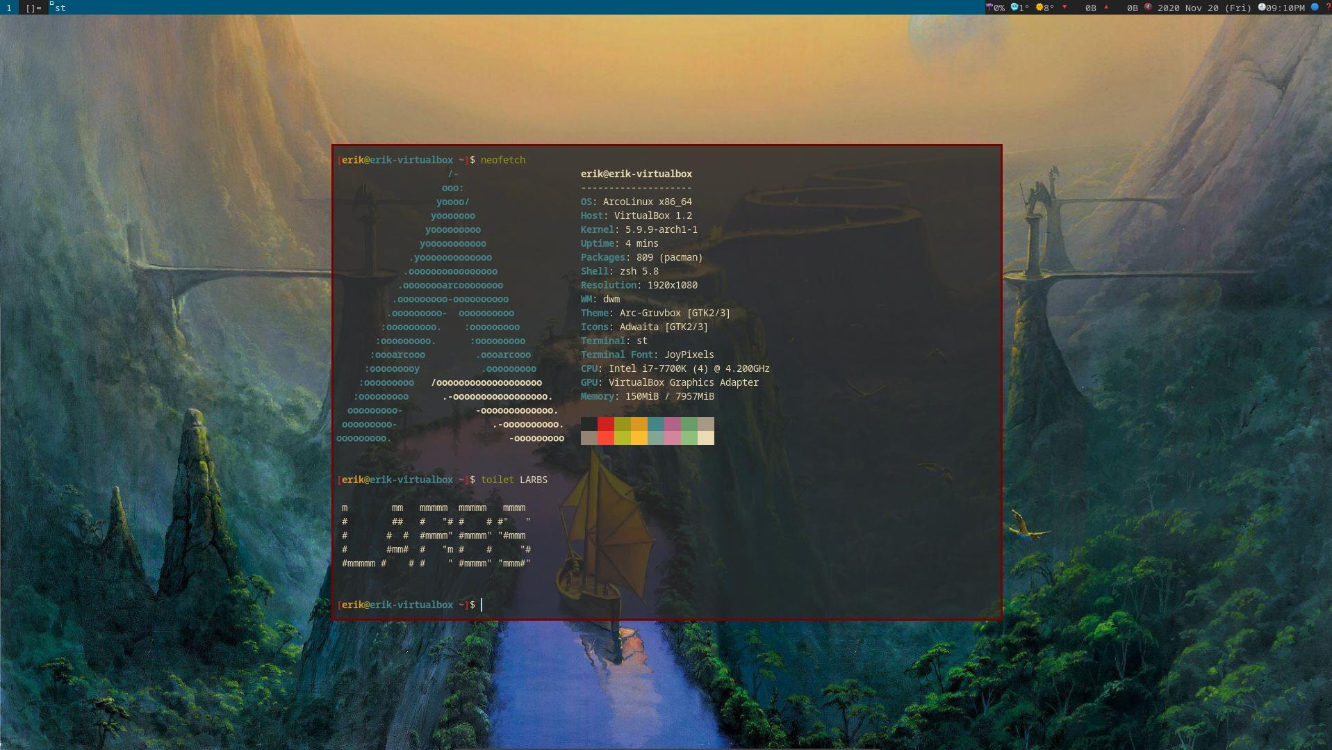 Installing LARBS on ArcoLinuxD